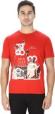 Sparky Printed Men's Round Neck Red T-Sh...