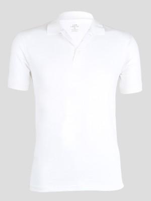 John Caballo Solid Men's Polo White T-Shirt