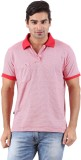 Furore Striped Men's Polo Neck Red T-Shi...