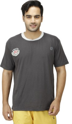 1OAK Solid Men's Round Neck Grey T-Shirt