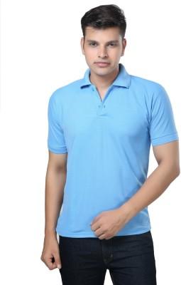 eSOUL Solid Men's Polo Neck Light Blue T-Shirt