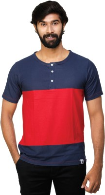 0EM Striped Men's Henley Red, Blue T-Shirt