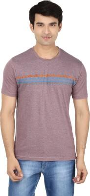 Minute Merge Printed Men's Round Neck Purple, Blue T-Shirt