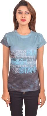 Blueash Graphic Print Women's Round Neck Multicolor T-Shirt