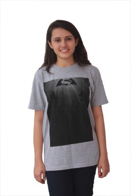 The Dry State Graphic Print Women,s Round Neck Grey T-Shirt