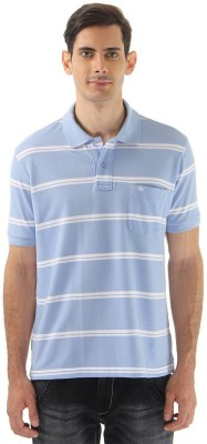 Monte Carlo Striped Men's Polo Neck Blue, White T-Shirt