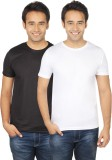 Quetzal Solid Men's Round Neck Black, Wh...