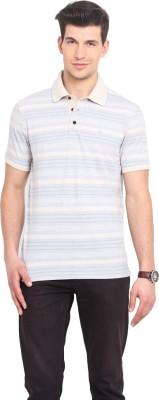 Smokestack Striped Men's Polo Light Blue T-Shirt