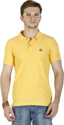 Duke Stardust Solid Men's Polo Neck Yellow T-Shirt