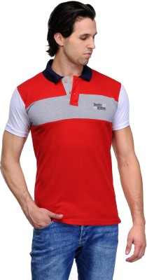 Canary London Solid Men's Polo Neck Red T-Shirt