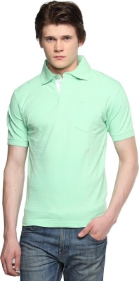 Tempt Embroidered Men's Polo Neck Light Green T-Shirt