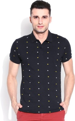 United Colors of Benetton Printed Men's Polo Neck T-Shirt