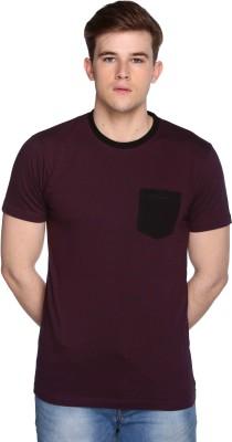 CLUB YORK Solid Men's Round Neck Maroon T-Shirt