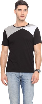 Northern Lights Solid Men's Round Neck Multicolor T-Shirt