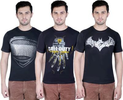 Yuva Printed Men's Round Neck Black, Black, Black T-Shirt