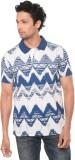 Wexford Printed Men's Polo Neck Multicol...