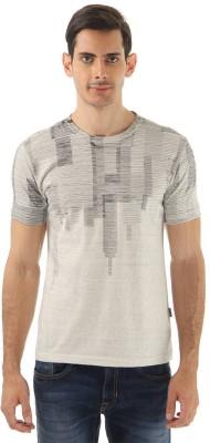 Monte Carlo Printed Men's Round Neck Grey T-Shirt