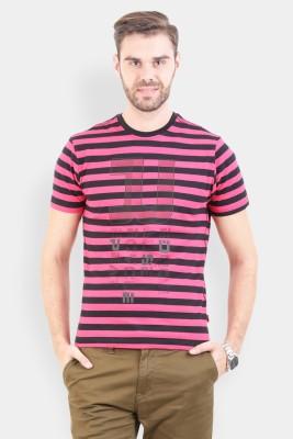 Crocodile Striped Men's Polo Multicolor T-Shirt