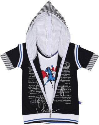 SPN Garments Printed Boy's Hooded T-Shirt
