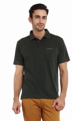 Classic Polo Solid Men's Polo Neck Dark Green T-Shirt