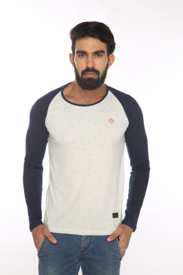 Alan Jones Solid Men's Round Neck Grey T-Shirt