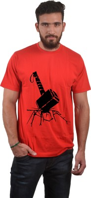 Abuse Printed Men's Round Neck Red T-Shirt