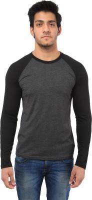 Five Stone Solid Men's Round Neck Grey T-Shirt