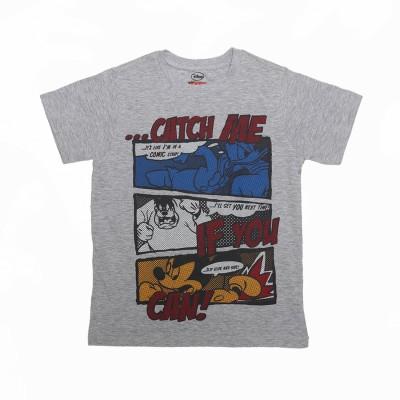Flying Machine Graphic Print Boy's Round Neck T-Shirt
