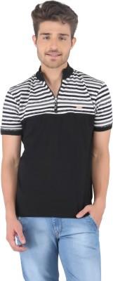 Stride Striped, Solid Men's Fashion Neck T-Shirt
