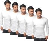 Nitlon Solid Men's Round Neck White T-Sh...