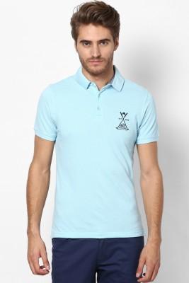 Srota Solid Men's Polo Light Blue T-Shirt