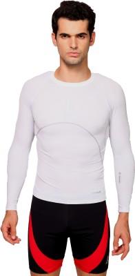 Italo Solid Men's Round Neck White T-Shirt