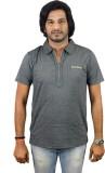 JEANLUC Self Design Men's Polo Neck Grey...