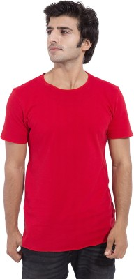 Duca California Solid Men's Round Neck Red T-Shirt