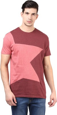T-shirt Company Solid Men's Round Neck Red T-Shirt