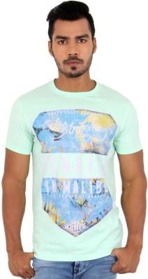 Killer Printed Men's Round Neck Light Green T-Shirt