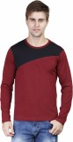 Righardi Striped Men's Round Neck Maroon...