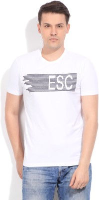 Easies Solid Men's Round Neck White T-Shirt