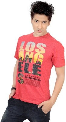 Zootx Printed Men's Round Neck Red T-Shirt