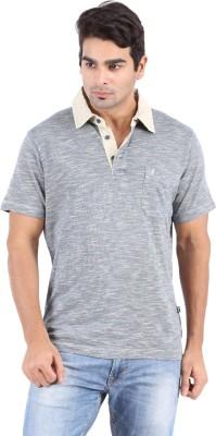 Furore Solid Men's Polo Neck Beige T-Shirt