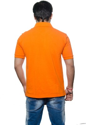 AMX Solid Men's Henley Orange T-Shirt