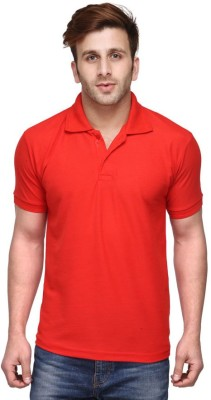 Friskers Solid Men's Polo Red T-Shirt