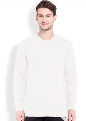 2go Solid Men's Round Neck Beige T-Shirt