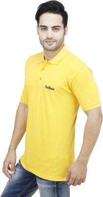 Rollinia Solid Men's Polo Yellow T-Shirt