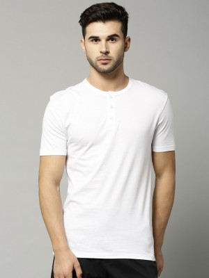 Marks & Spencer Solid Men's Henley T-Shirt