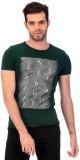 Saiints Printed Men's Round Neck Green T...