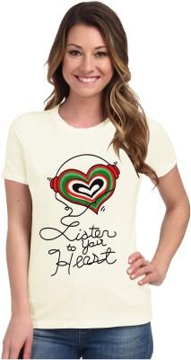 So Sweety Graphic Print Women's Round Neck White T-Shirt
