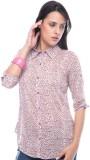 Virsa Floral Print Women's V-neck Pink T...