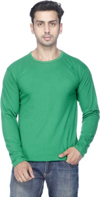 Demokrazy Solid Men's Round Neck Green T-Shirt