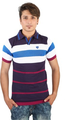 Igsmart Self Design Men's Polo Neck T-Shirt